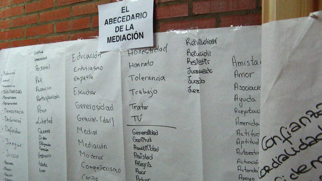 Vocabulario mediación escolar