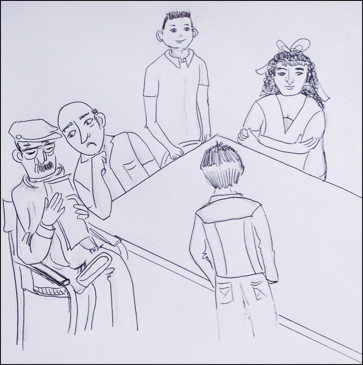Mediación Escolar en escuela primarias dibujo padres