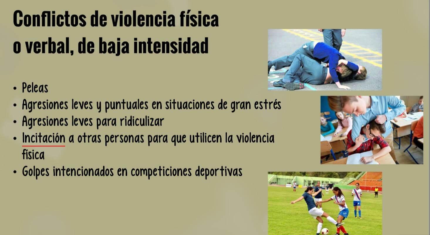 Conflictos escolares con violencia ejemplos